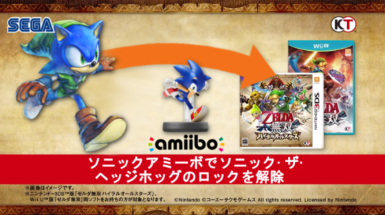 Hyrule Warriors 3DS - Sonic amiibo