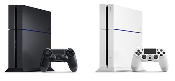 PS4 CUH-1200 - Modelo negro mate y blanco