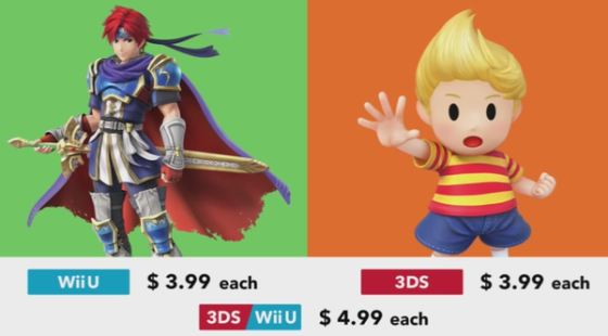 Super Smash Bros. for Wii U & 3DS - DLC (Precio Roy y Lucas)