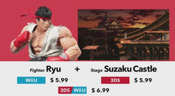 Super Smash Bros. for Wii U & 3DS - DLC (Precio Ryu y stage extra)