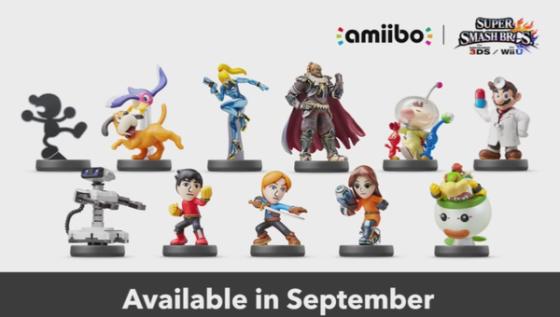 Super Smash Bros. for Wii U & 3DS - Proxima ola de figuras amiibo (septiembre)