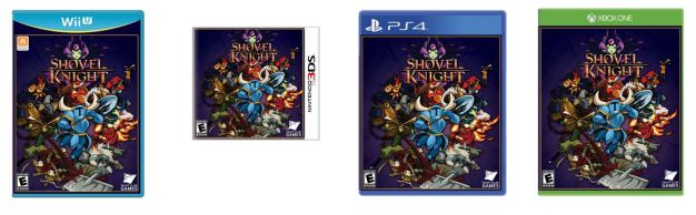 Shovel Knight - Box art (Wii U, 3DS, PS4, Xbox One)