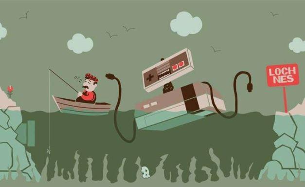 Super Mario Bros - El monstruo del lago NES