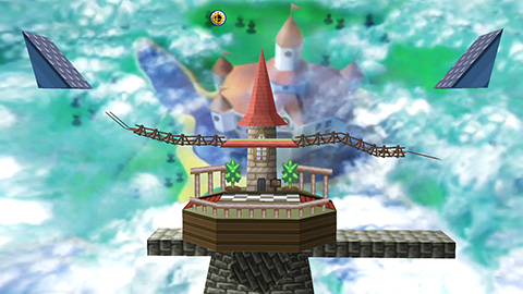 Super Smash Bros. for Wii U & 3DS - Peach's Castle (Stage DLC)