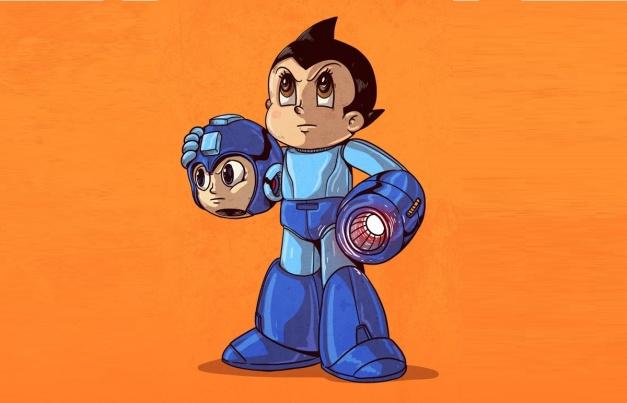 Astro Boy - Mega Man disfraz
