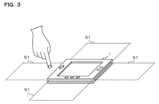 Nintendo - Patente de tablet control con sensores de espacio
