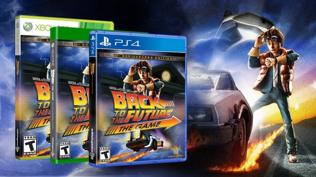 Back to the Future The Game 30th Anniversary Edition - Box art (PS4, Xbox 360 y Xbox One)