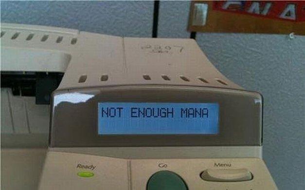 No hay mana suficiente