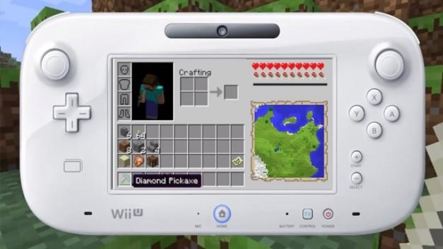 Minecraft Wii U - Wii U Gamepad Mockup