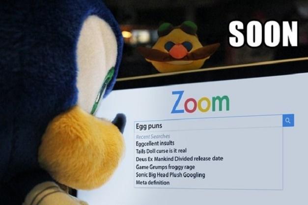 Sonic buscando en internet