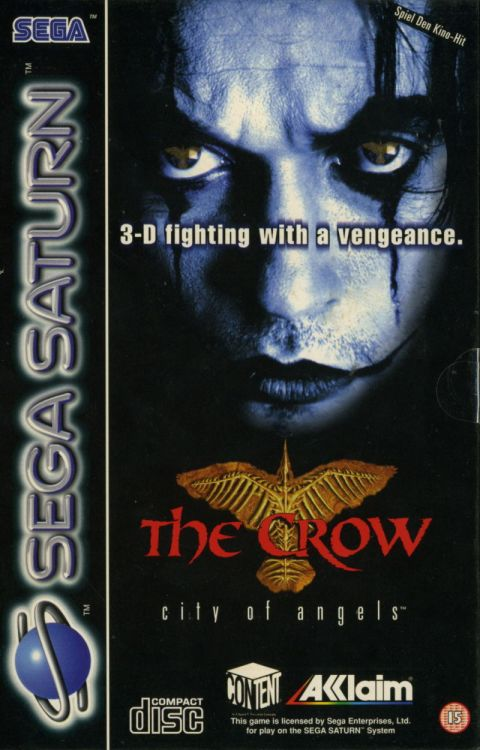 The Crow (Sega Saturn) - Box art