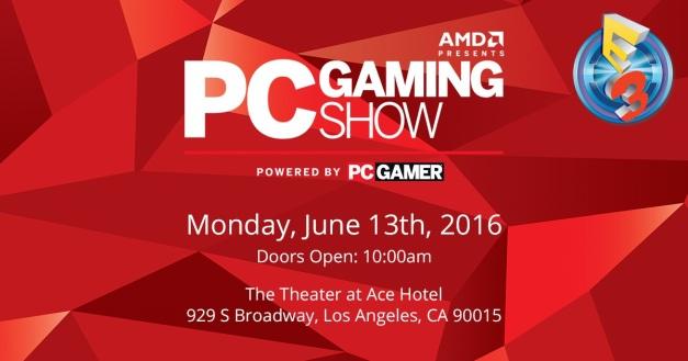 E3 2016 - Conferencia PC Gaming Show de AMD