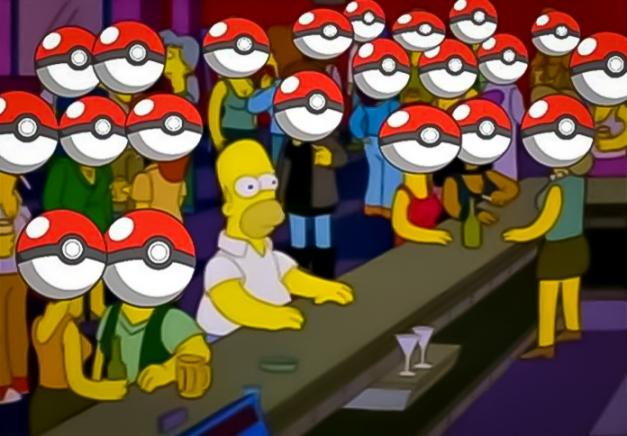 Homero Simpson Bar - Todos juegan Pokémon Go