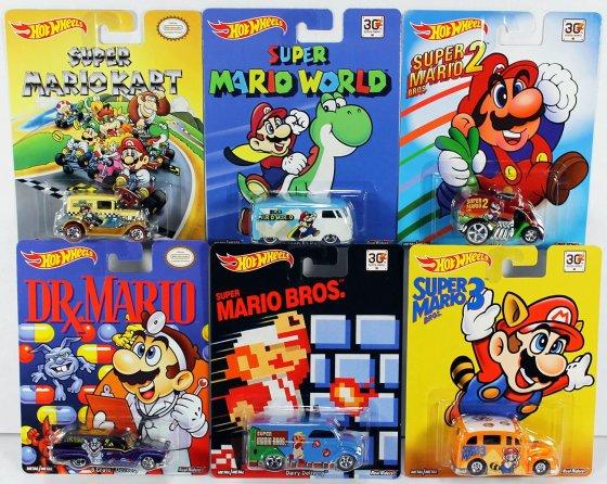 Hot Wheels Pop Culture Complete Set - Super Mario Brothers