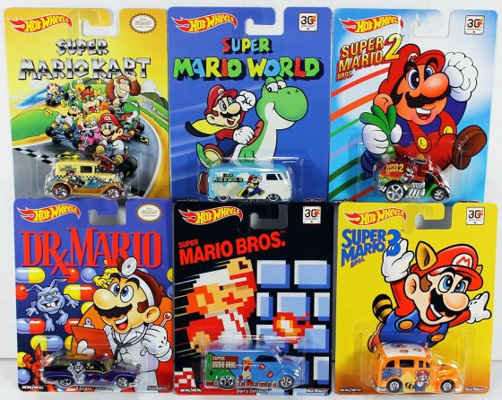Hot Wheels Pop Culture Complete Set - Super Mario Brothers
