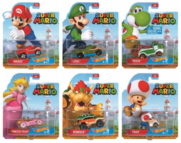 Hot Wheels - Serie Super Mario (Set completo)
