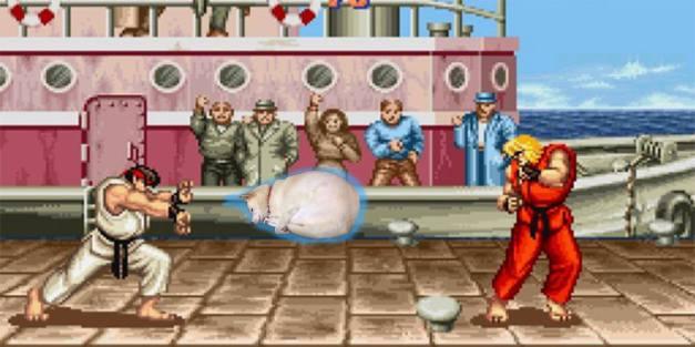 Street Fighter 2 - Perro Hadouken