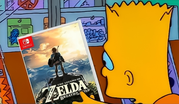 bart-simpson-the-legend-of-zelda-breath-of-the-wild