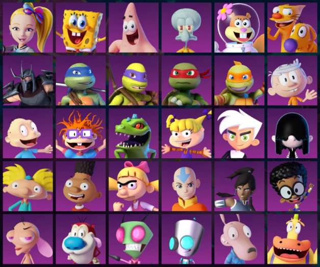 Nickelodeon Kart Racers 2 Grand Prix - Personajes
