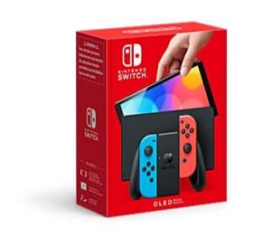 Nintendo Switch Modelo OLED - Box art (Azul & Rojo)